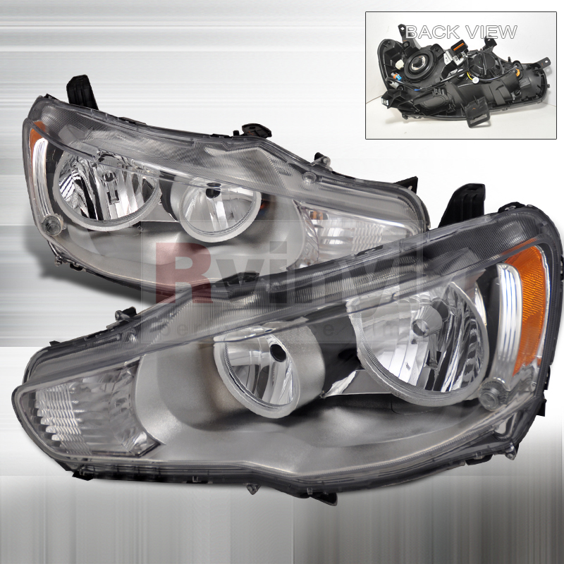 2008 Mitsubishi Lancer Aftermarket Headlights