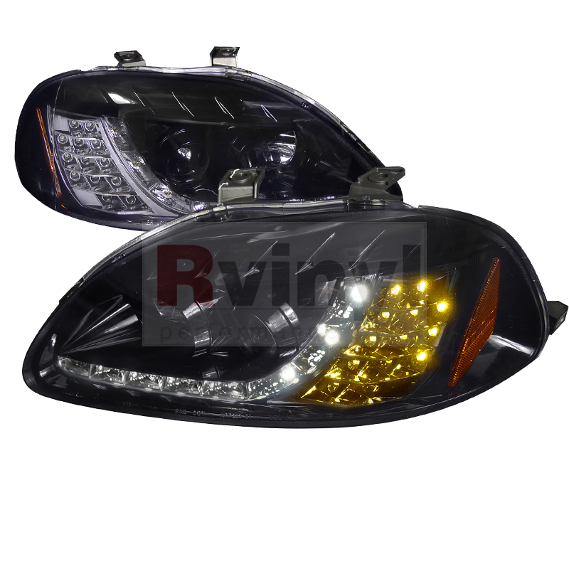1997 Honda Civic Aftermarket Headlights