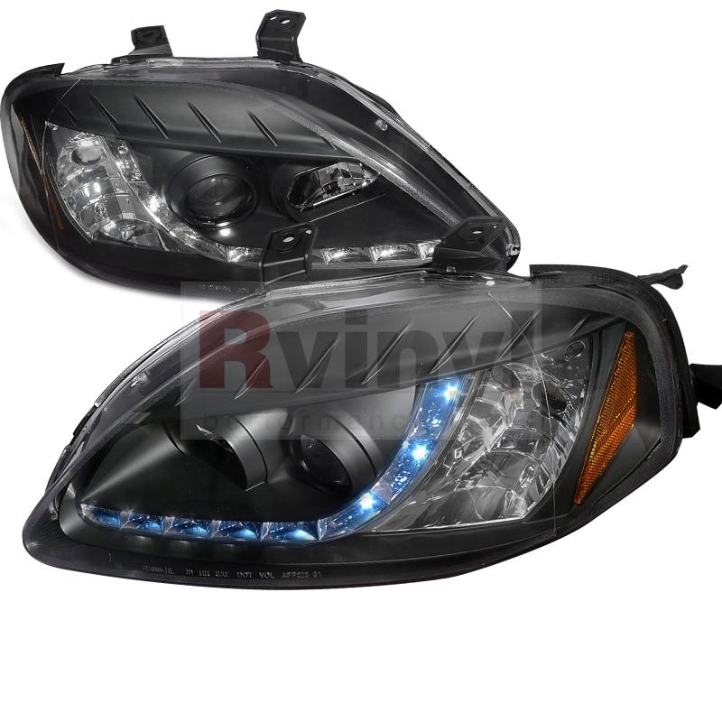 1999 Honda Civic Aftermarket Headlights