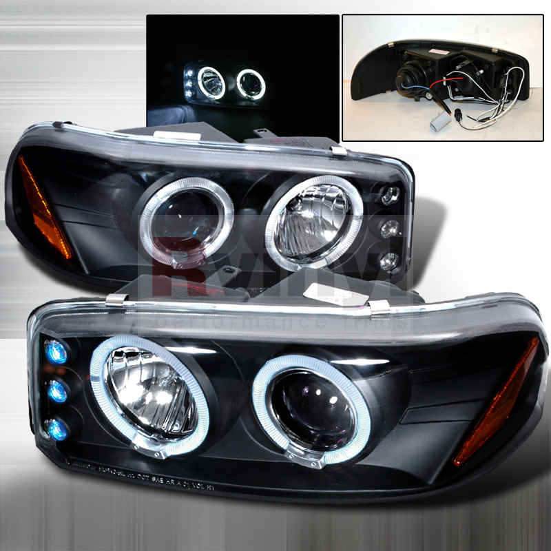 2000 GMC Sierra Aftermarket Headlights