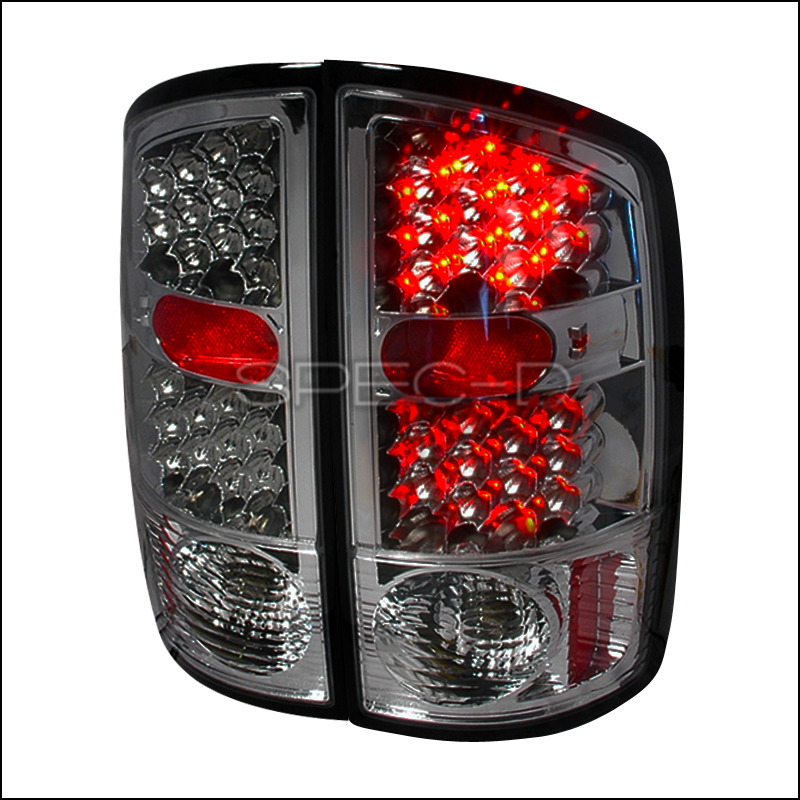 Spec D Tuning 174 Dodge Ram 2002 2006 Smoked Led Tail Lights