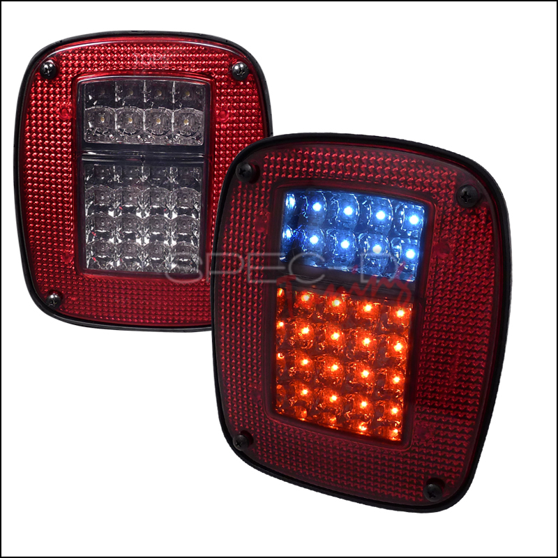 1999 Jeep Wrangler Aftermarket Tail Lights