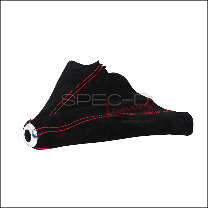 Spec-D Tuning® Red Stitch Suede Shift Boot