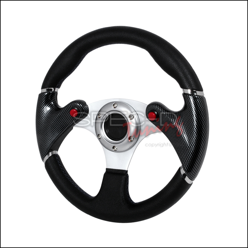 Spec-D Tuning® F-16 Carbon Fiber Steering Wheel
