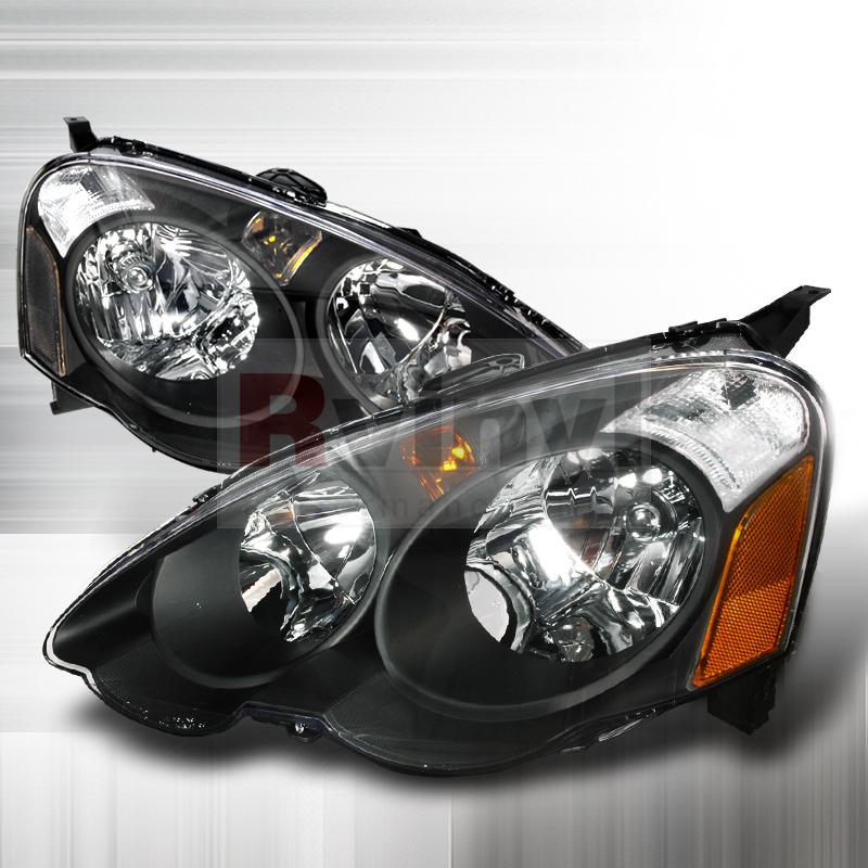 Spec-D Tuning® Acura RSX 2002-2004 Black Euro Headlights