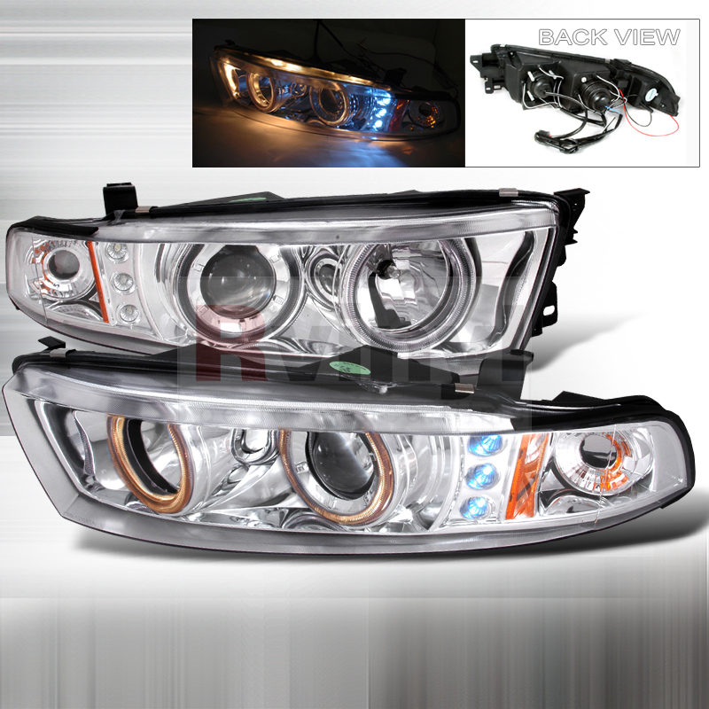 SpecD Tuning Mitsubishi Galant 19992002 Chrome Projector Headlights