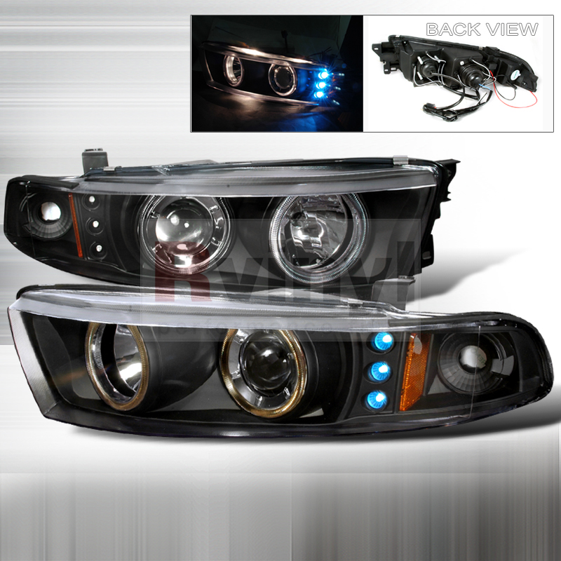 SpecD Tuning Mitsubishi Galant 19992002 Black Projector Headlights