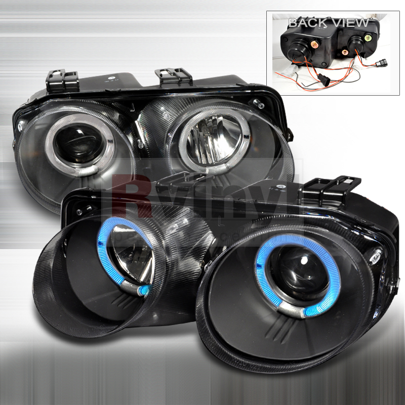 Spec-D Tuning® Acura Integra 1998-2001 Dual LED Halo Black