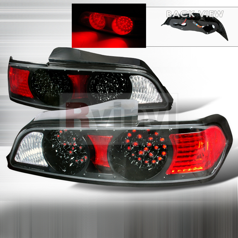 Spec-D Tuning® Acura RSX 2005-2006 Black LED Tail Lights