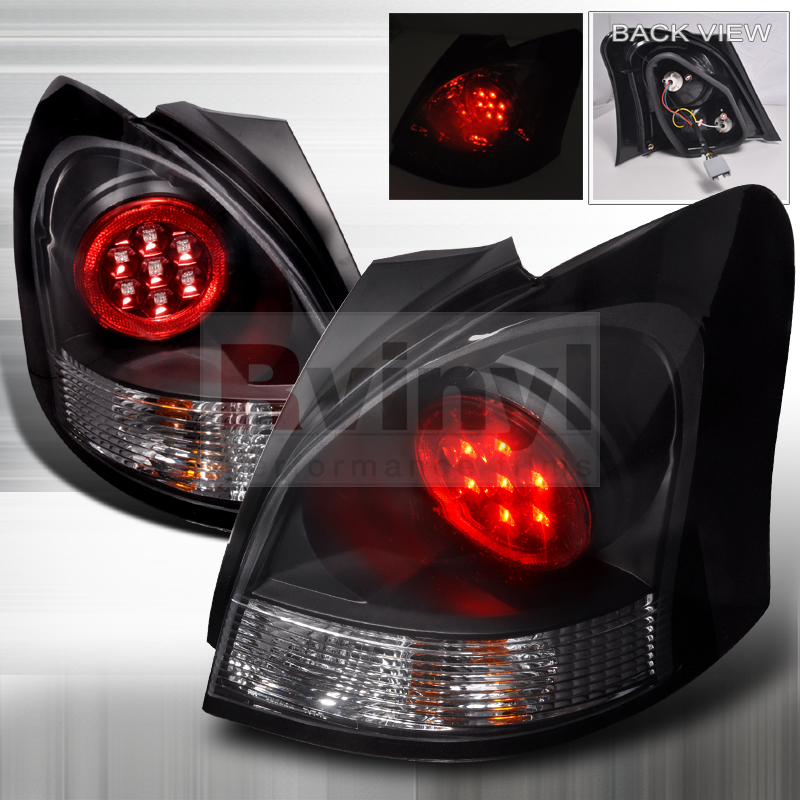 Spec D Tuning 174 Toyota Yaris 2007 2009 Black Led Tail Lights